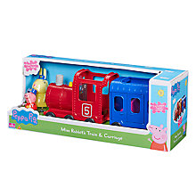 Buy Peppa Pig Miss Rabbit Train and Carriage Online at johnlewis.com