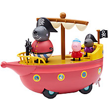Buy Peppa Pig Grandad Dog Pirate Boat Online at johnlewis.com