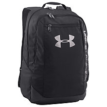 Buy Under Armour Hustle LDWR Backpack, Black Online at johnlewis.com