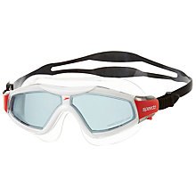 Buy Speedo Rift Pro Biofuse Goggles, Black/Red Online at johnlewis.com