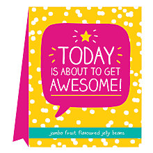 Buy Happy Jackson 'Today Is About To Get Awesome' Jelly Beans, 100g Online at johnlewis.com