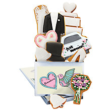 Buy Biscuiteers 'Wedding Bells' Tin Of Vanilla Biscuits, 175g Online at johnlewis.com