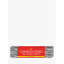 Buy Happy Jackson 'Congratulations' Chocolate Selection Box, 200g Online at johnlewis.com