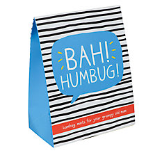 Buy Happy Jackson 'Bah! Humbug' Mint Humbug Pouch, 100g Online at johnlewis.com