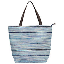 Buy Fat Face Broken Stripe Shopper Bag, Blue Online at johnlewis.com