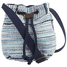 Buy Fat Face Broken Stripe Duffle Bag, Blue Online at johnlewis.com