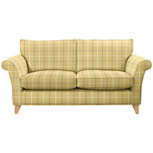 Buy John Lewis Charlotte 3 Seater Sofa, Light Leg, William Check Apple Online at johnlewis.com