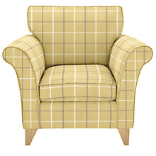 Buy John Lewis Charlotte Armchair, Light Leg, William Check Apple Online at johnlewis.com