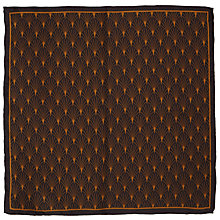 Buy John Lewis Deco Print Silk Pocket Square, Cognac Online at johnlewis.com