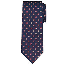 Buy Daniel Hechter Shadow Flower Woven Silk Tie, Navy/Burgundy Online at johnlewis.com