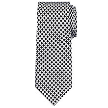 Buy Daniel Hechter Shadow Diamond Woven Silk Tie, Black/White Online at johnlewis.com