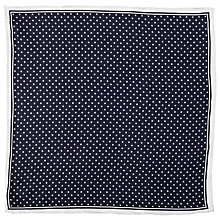 Buy John Lewis Dot Print Silk Pocket Square, Navy/White Online at johnlewis.com