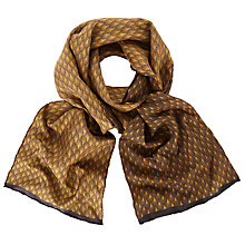 Buy John Lewis Deco Print Silk Dress Scarf, Cognac Online at johnlewis.com