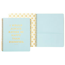Buy kate spade new york Large Spiral Notebook, Blue Online at johnlewis.com