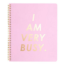 Buy Ban.do I Am Very Busy Large Notebook, Pink and Gold Online at johnlewis.com