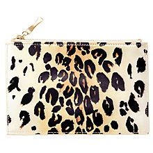Buy kate spade new york Pencil Pouch Leopard Print Online at johnlewis.com