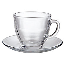 Buy Duralex Gigogne Cup & Saucer Set Online at johnlewis.com