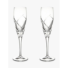 Buy John Lewis Grosseto Flute, Set of 2, Clear Online at johnlewis.com