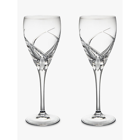buy john lewis grosseto white wine cut crystal glasses. Black Bedroom Furniture Sets. Home Design Ideas