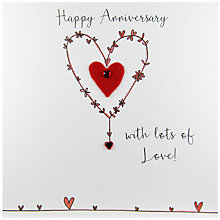 Buy Saffron Cards And Gifts Happy Anniversary Greeting Card Online at johnlewis.com