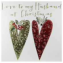 Buy Belly Button Designs Husband Christmas Card Online at johnlewis.com