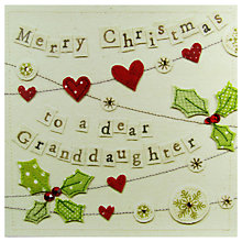 Buy Blue Eyed Sun Granddaughter Christmas Card Online at johnlewis.com