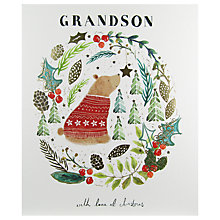 Buy Woodmansterne Brown Bear Holding A Star Christmas Card Online at johnlewis.com