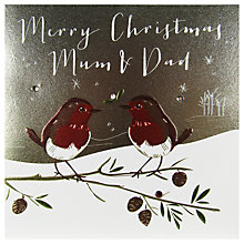 Buy Belly Button Designs Mum And Dad Christmas Card Online at johnlewis.com