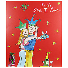 Buy Woodmansterne Boy And Girl Cuddling With Gifts Christmas Card Online at johnlewis.com