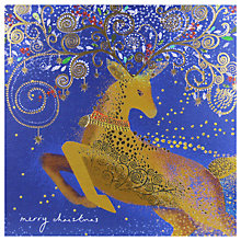 Buy Woodmansterne Deer With Decorated Antlers Christmas Card Online at johnlewis.com