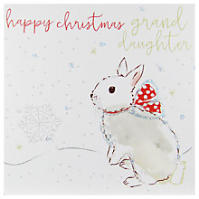 Buy Belly Button Designs Grandaughter Christmas Card Online at johnlewis.com