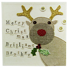 Buy Blue Eyed Sun Brother Christmas Card Online at johnlewis.com