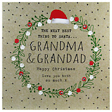 Buy Hammond Gower Grandma & Grandad Words Christmas Card Online at johnlewis.com