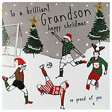 Buy Hammond Gower Footballers In Snow Christmas Card Online at johnlewis.com