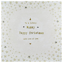 Buy Hammond Gower Mummy Gold Words Christmas Card Online at johnlewis.com