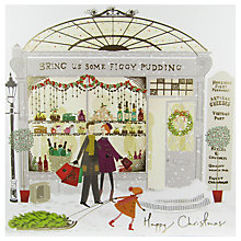 Buy Woodmansterne Family Outside A Food Shop Christmas Card Online at johnlewis.com