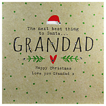 Buy Hammond Gower Grandad Words Christmas Card Online at johnlewis.com