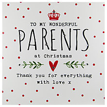 Buy Hammond Gower Parents Words Christmas Card Online at johnlewis.com
