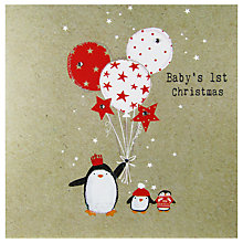 Buy Hammond Gower Penguins & Balloons Christmas Card Online at johnlewis.com