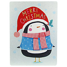 Buy James Ellis Stevens Penguin With Hat Christmas Card Online at johnlewis.com