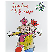 Buy Woodmansterne Old Couple Having Cuddle Christmas Card Online at johnlewis.com
