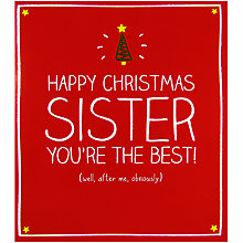Buy Pigment Sister You're The Best Christmas Card Online at johnlewis.com