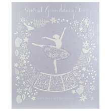 Buy Woodmansterne Silhouette Ballerina Christmas Card Online at johnlewis.com