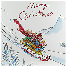 Buy Woodmansterne Sledging Downhill Christmas Card Online at johnlewis.com