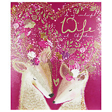 Buy Woodmansterne 2 Deers With Ornate Antlers Christmas Card Online at johnlewis.com
