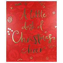 Buy John Lewis A Little Dash of Christmas Cheer Card Online at johnlewis.com