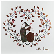 Buy Woodmansterne Two Owls In A Tree Christmas Card Online at johnlewis.com