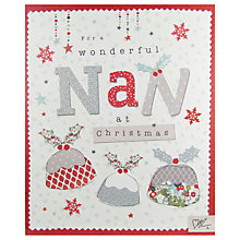 Buy Cardmix Wonderful Nan Puddings Christmas Card Online at johnlewis.com