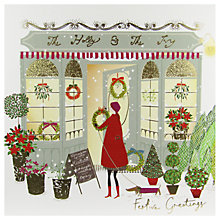 Buy Woodmansterne Christmas Florist The Holly and the Ivy Card Online at johnlewis.com