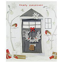 Buy John Lewis Christmas Door With Robins Card Online at johnlewis.com